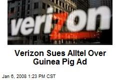 Verizon Sues Alltel Over Guinea Pig Ad