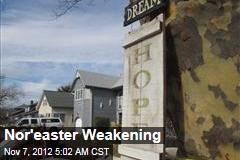 Nor'easter Weakening
