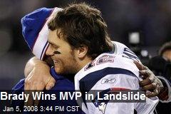 Brady Wins MVP in Landslide