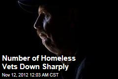 Number of Homeless Vets Down Sharply