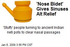 'Nose Bidet' Gives Sinuses Alt Relief