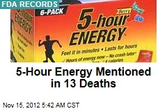 5-Hour Energy Mentioned in 13 Deaths