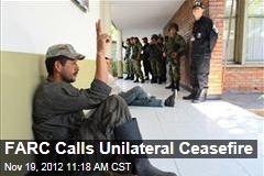 FARC Calls Unilateral Ceasefire