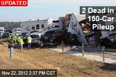 One Dead in 140-Car Pileup