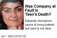 Was Company at Fault in Teen's Death?