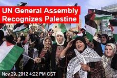 UN General Assembly Recognizes Palestine