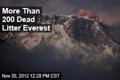 More Than 200 Dead Litter Everest