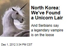 North Korea: We've Found a Unicorn Lair