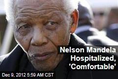 Nelson Mandela Hospitalized, 'Comfortable'