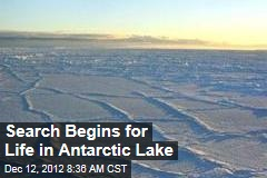 Search Begins for Life in Antarctic Lake