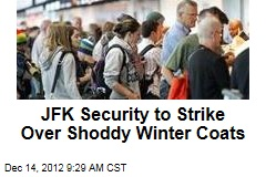 JFK Security to Strike Over Shoddy Winter Coats