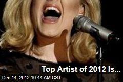 Top Artist of 2012 Is...