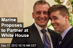 Marine Proposes to Partner at White House