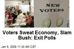 Voters Sweat Economy, Slam Bush: Exit Polls