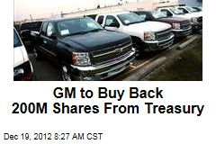 GM to Buy Back 200M Shares From Treasury