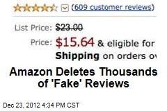 Amazon Deletes Thousands of 'Fake' Reviews