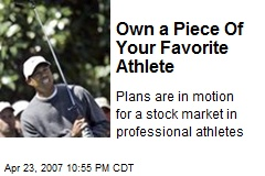 Own a Piece Of Your Favorite Athlete