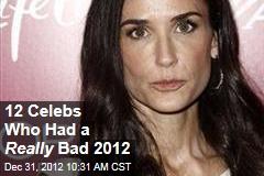 12 Celebs Who Had a Really Bad 2012