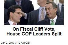 Cliff Bill Vote Split House GOP Leaders