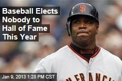 Baseball Elects Nobody to Hall of Fame This Year