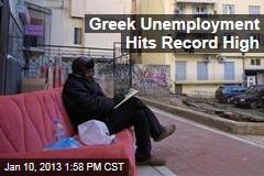 Greek Unemployment Hits Record High