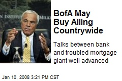 BofA May Buy Ailing Countrywide