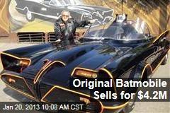 Original Batmobile Sells for $4.2M
