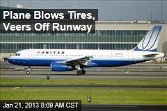 Plane Blows Tires, Veers Off Runway