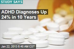 ADHD Diagnoses Up 24% in 10 Years