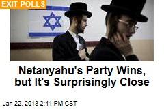 Netanyahu's Party Wins, but It's Surprisingly Close