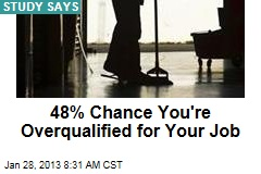 48% Chance You're Overqualified for Your Job