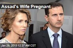 Assad's Wife Pregnant