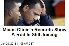Miami Clinic's Records Show A-Rod Is Still Juicing