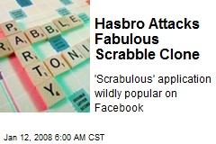 Hasbro Attacks Fabulous Scrabble Clone