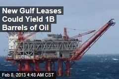 New Gulf Leases Could Yield 1B Barrels of Oil