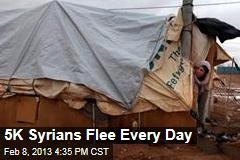 5K Syrians Fleeing Every Day