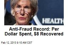 Anti-Fraud Record: Per Dollar Spent, $8 Recovered