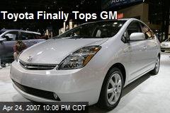 Toyota Finally Tops GM