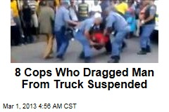S. Africa Cops Suspended After Dragging Man from Vehicle