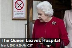 The Queen Leaves Hospital