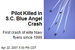 Pilot Killed in S.C. Blue Angel Crash