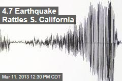 4.7 Earthquake Rattles S. California