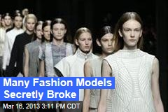 Why Too Many Fashion Models Are Broke