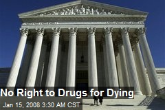 No Right to Drugs for Dying
