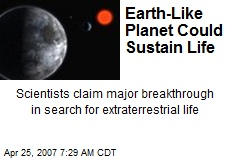 Earth-Like Planet Could Sustain Life