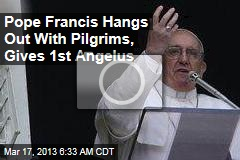 Pope Francis Hangs Out With Pilgrims, Gives 1st Angelus