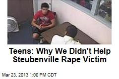 Police Video: Teens Describe Night of Steubenville Rape