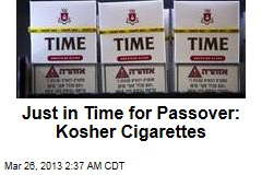 Just in Time for Passover: Kosher Cigarettes