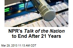 NPR's Talk of the Nation to End After 21 Years