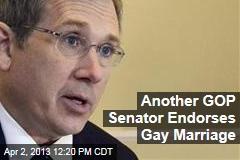 Another GOP Senator Endorses Gay Marriage